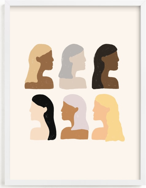 This is a brown art by Amanda Houston called Girls Support Girls.