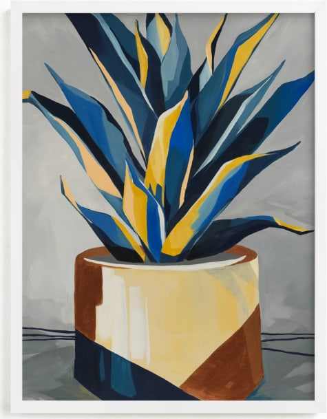 This is a blue art by Marla Beyer called Get To The Point.