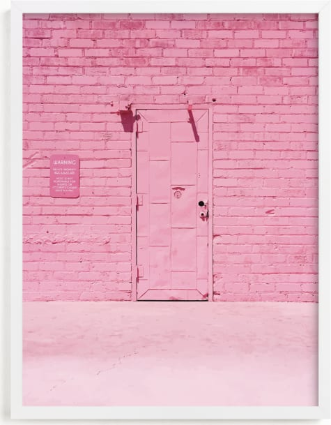 This is a pink art by Jenna Gibson called The Pink Door.