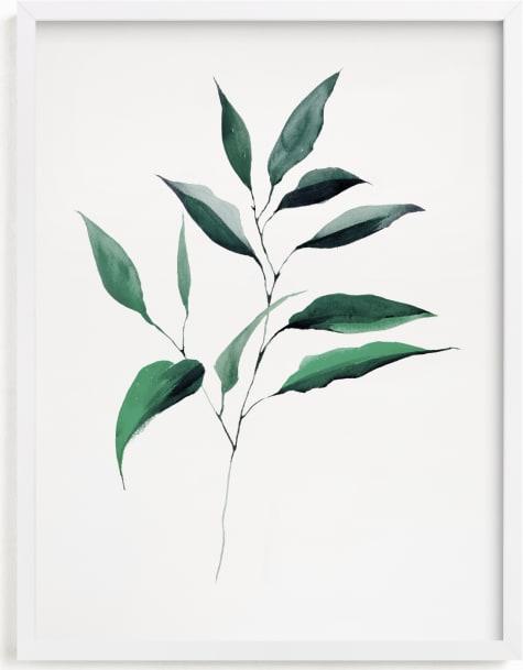 This is a white art by jinseikou called Magnolia Foliage.