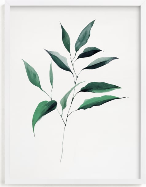 This is a white art by jinseikou called Magnolia Foliage.