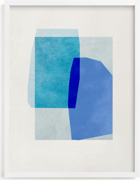 This is a blue art by Sumak Studio called blue abstraction.