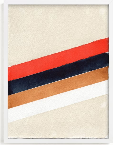 This is a white art by Celeste Duffy called Retro Stripes.