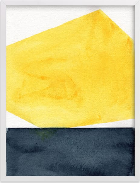 This is a yellow art by Celeste Duffy called Rising Sun.