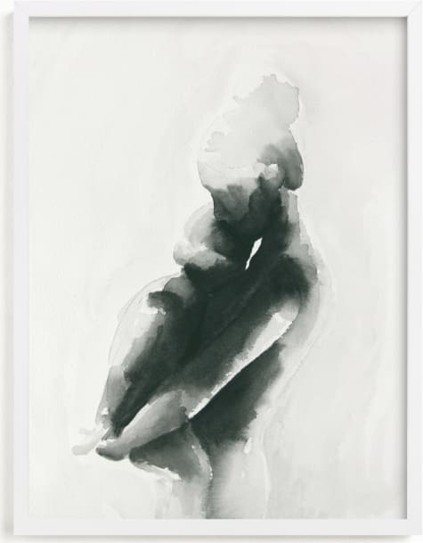 This is a grey art by Kate Ahn called Mother Embrace Color.