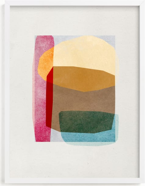 This is a colorful art by Sumak Studio called sheer shapes.