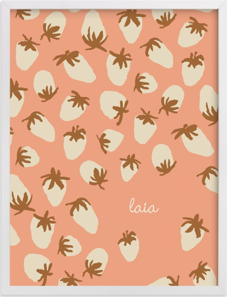 This is a pink personalized art for kid by Alex Roda called Laia.