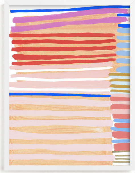 This is a colorful kids wall art by Katie Craig called Peach Party One.