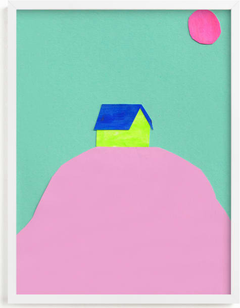 This is a blue kids wall art by Marta González called Dia y Noche.