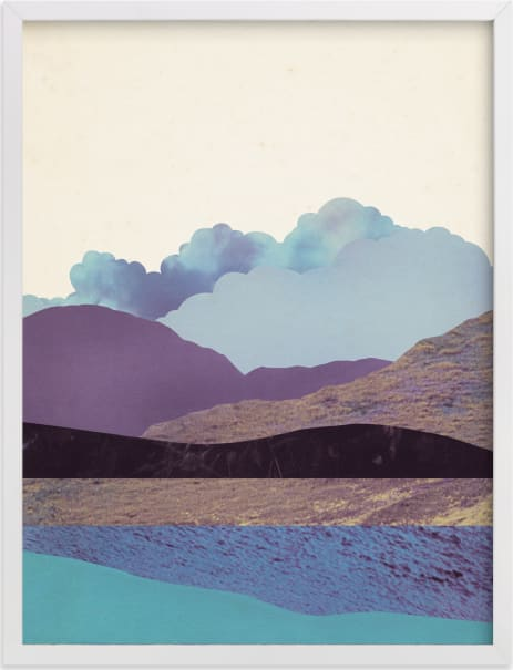 This is a blue kids wall art by Field and Sky called Peaceful Valley.