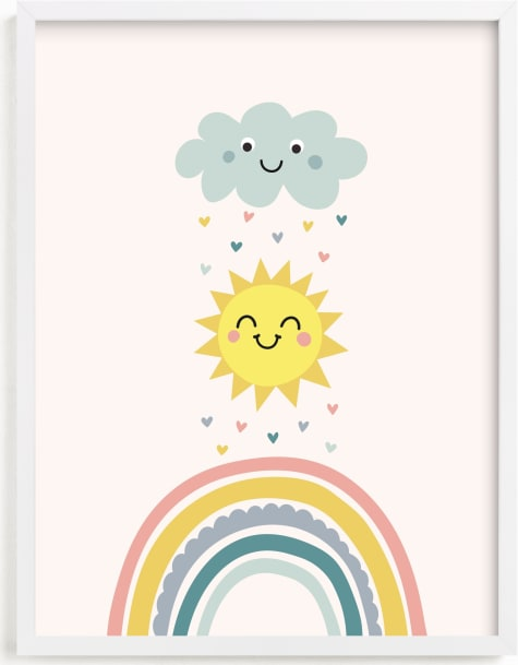 This is a colorful kids wall art by Annie Holmquist called How to make a rainbow.