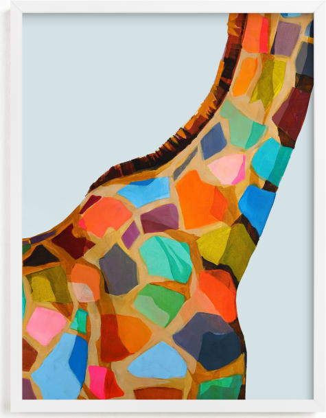 This is a colorful kids wall art by Jess Franks called Safari Spots.