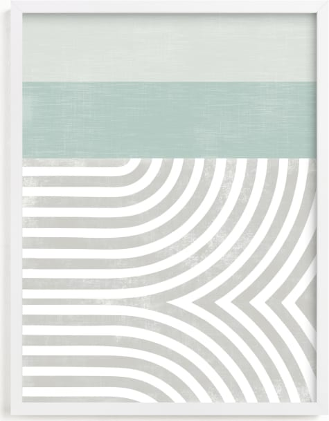 This is a blue kids wall art by Tanya Lee Design called Curve Appeal VI.