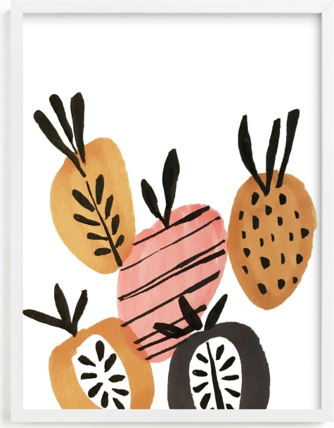 This is a colorful kids wall art by Jenna Skead called Mipina.