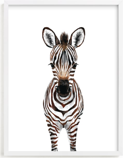 This is a brown art by Cass Loh called Baby Zebra 2.