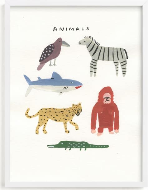 This is a colorful art by Molly Mortensen called Animal Kingdom.