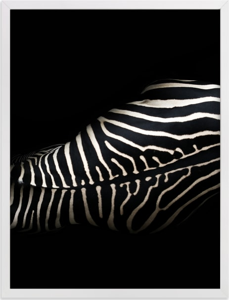 This is a ivory art by David Michuki called Night Stripes II.