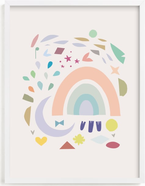 This is a colorful nursery wall art by Lori Wemple called Shapes.