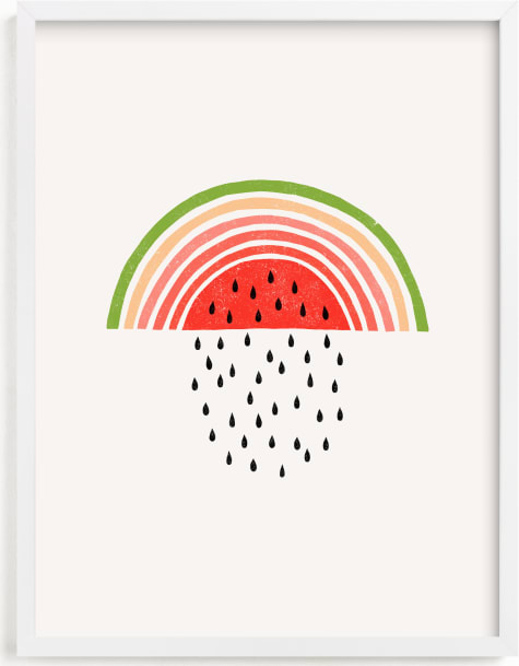 This is a colorful nursery wall art by Gagica Contra called Watermelon Rainbow .