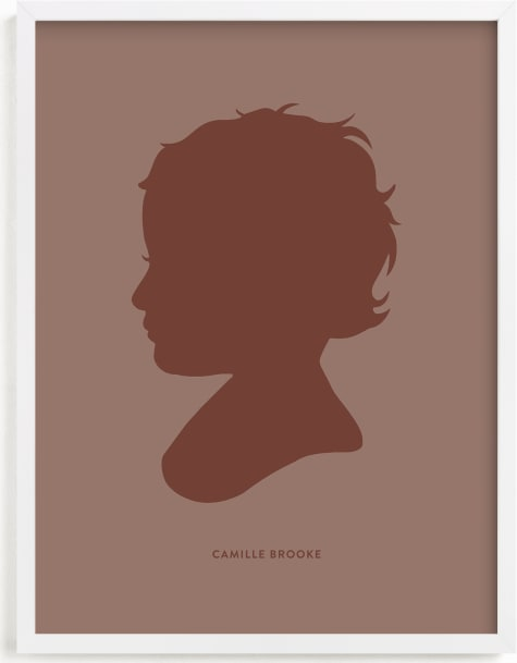 This is a colorful silhouette art by Minted called Tone on Tone Silhouette.