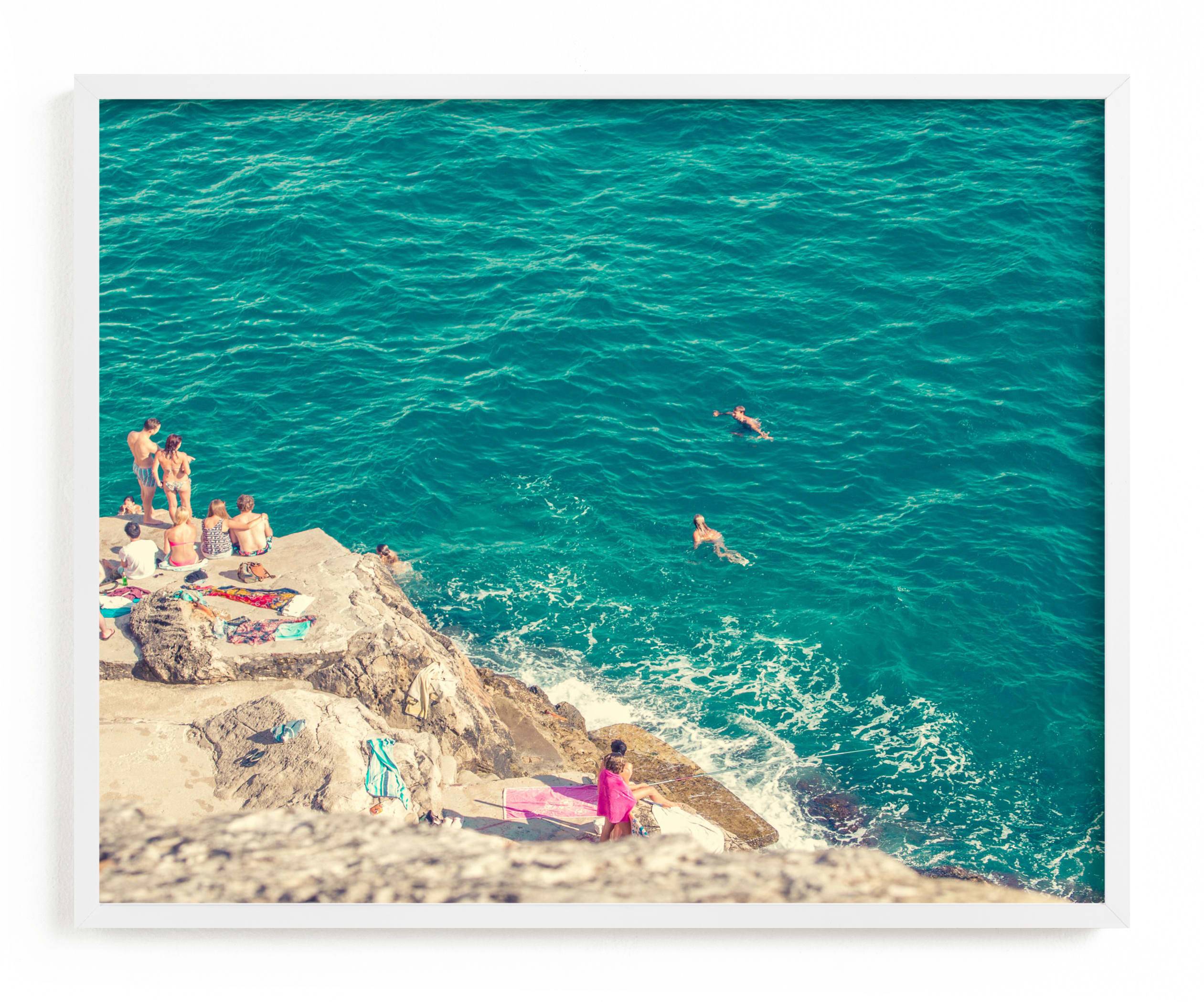 """""""Seaside"""" - Limited Edition Art Print by Kitty Seeber in beautiful frame options and a variety of sizes."""