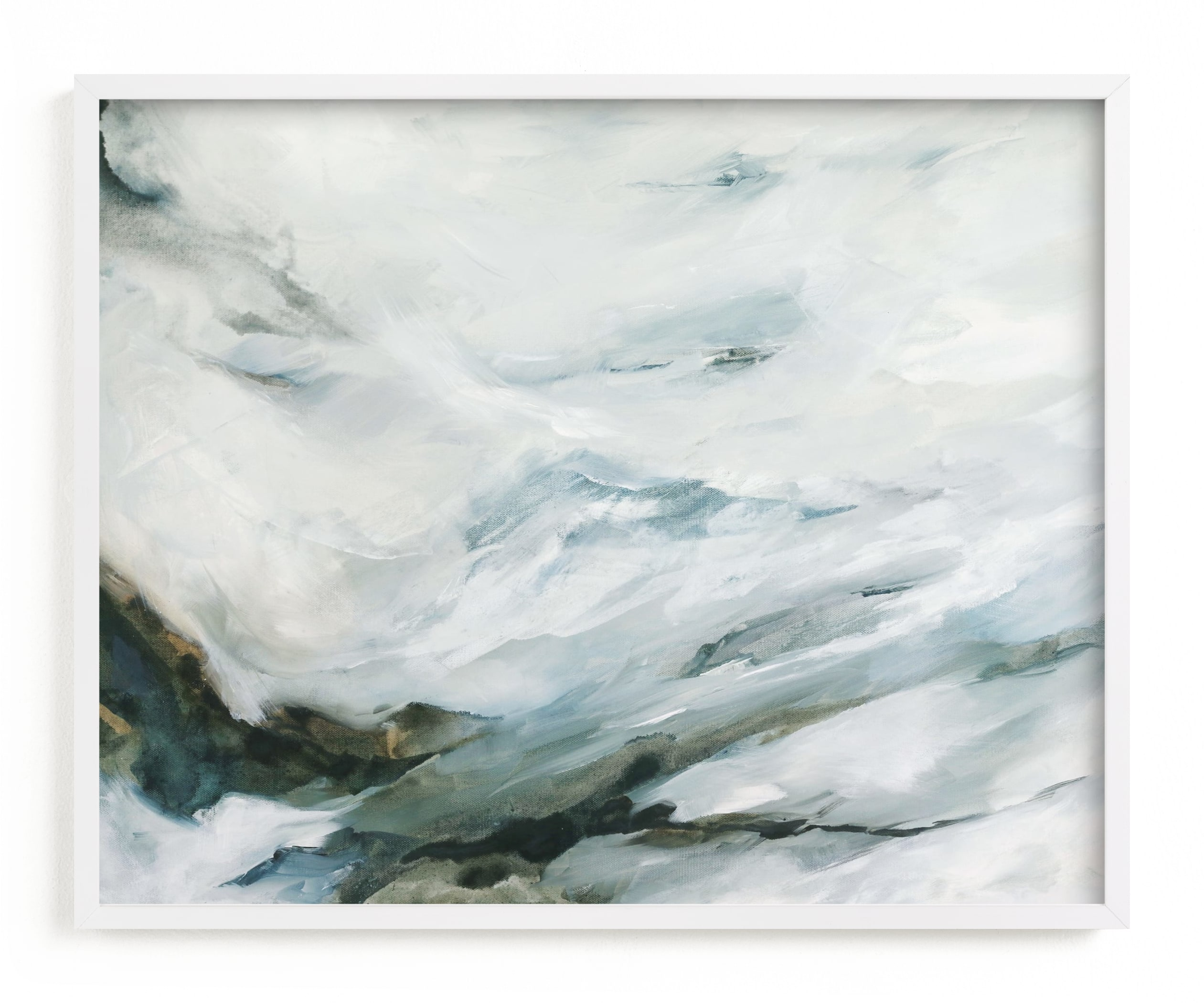 """""""High Mountain Morning"""" - Art Print by Mya Bessette in beautiful frame options and a variety of sizes."""