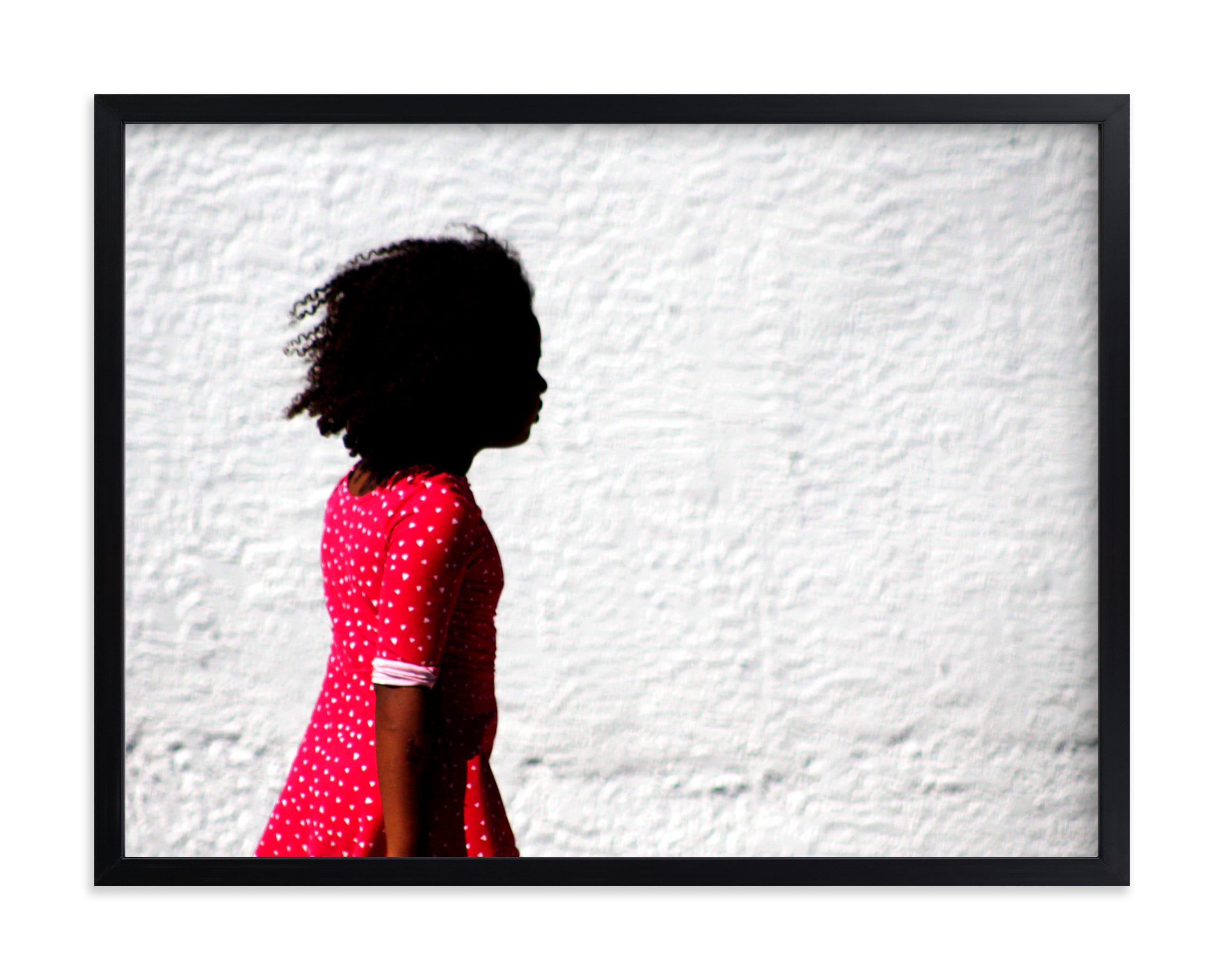 """""""Girl in the red dress."""" - Limited Edition Art Print by Dawn Smith in beautiful frame options and a variety of sizes."""