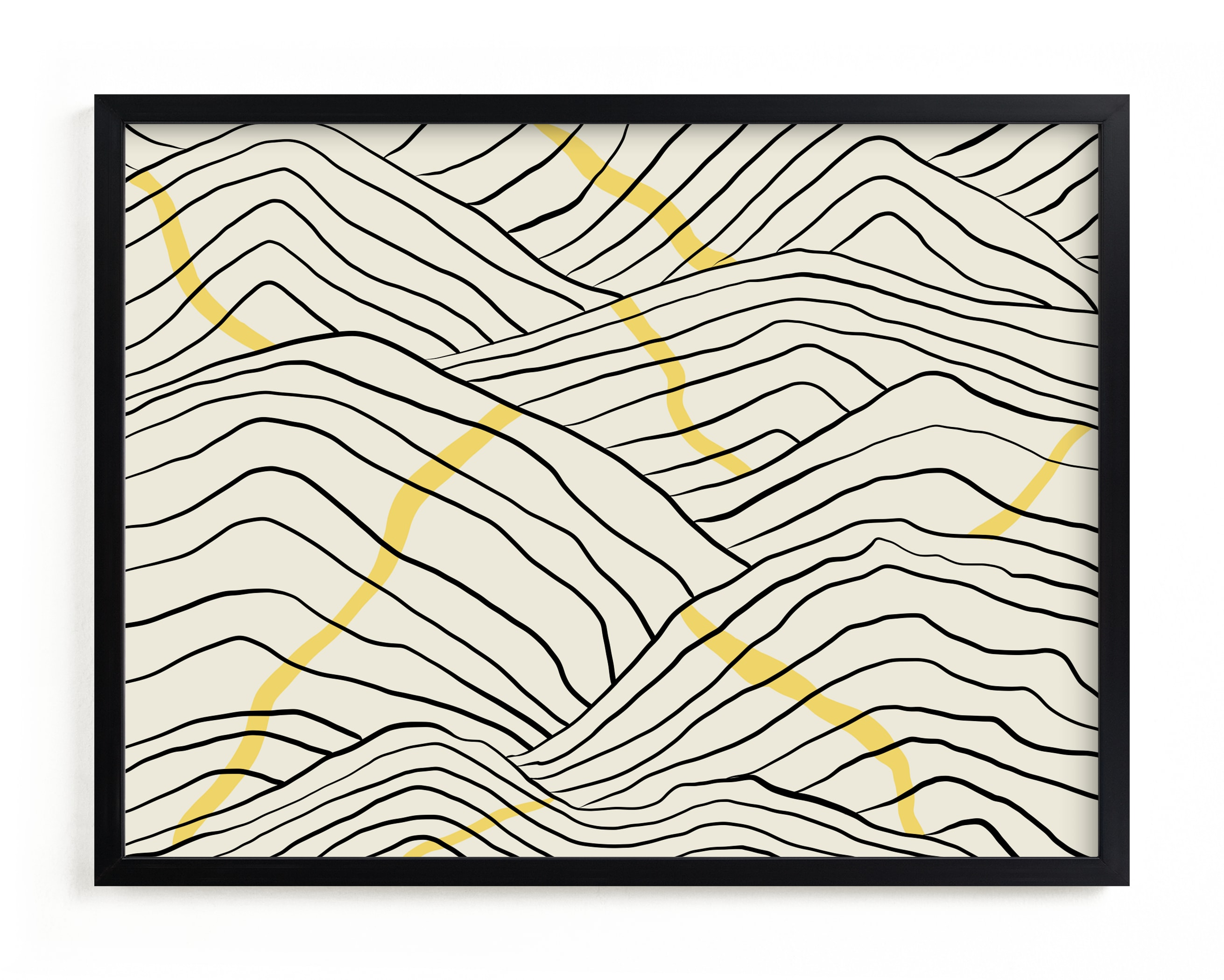 """""""Meandering"""" - Limited Edition Art Print by Adelyn T. in beautiful frame options and a variety of sizes."""