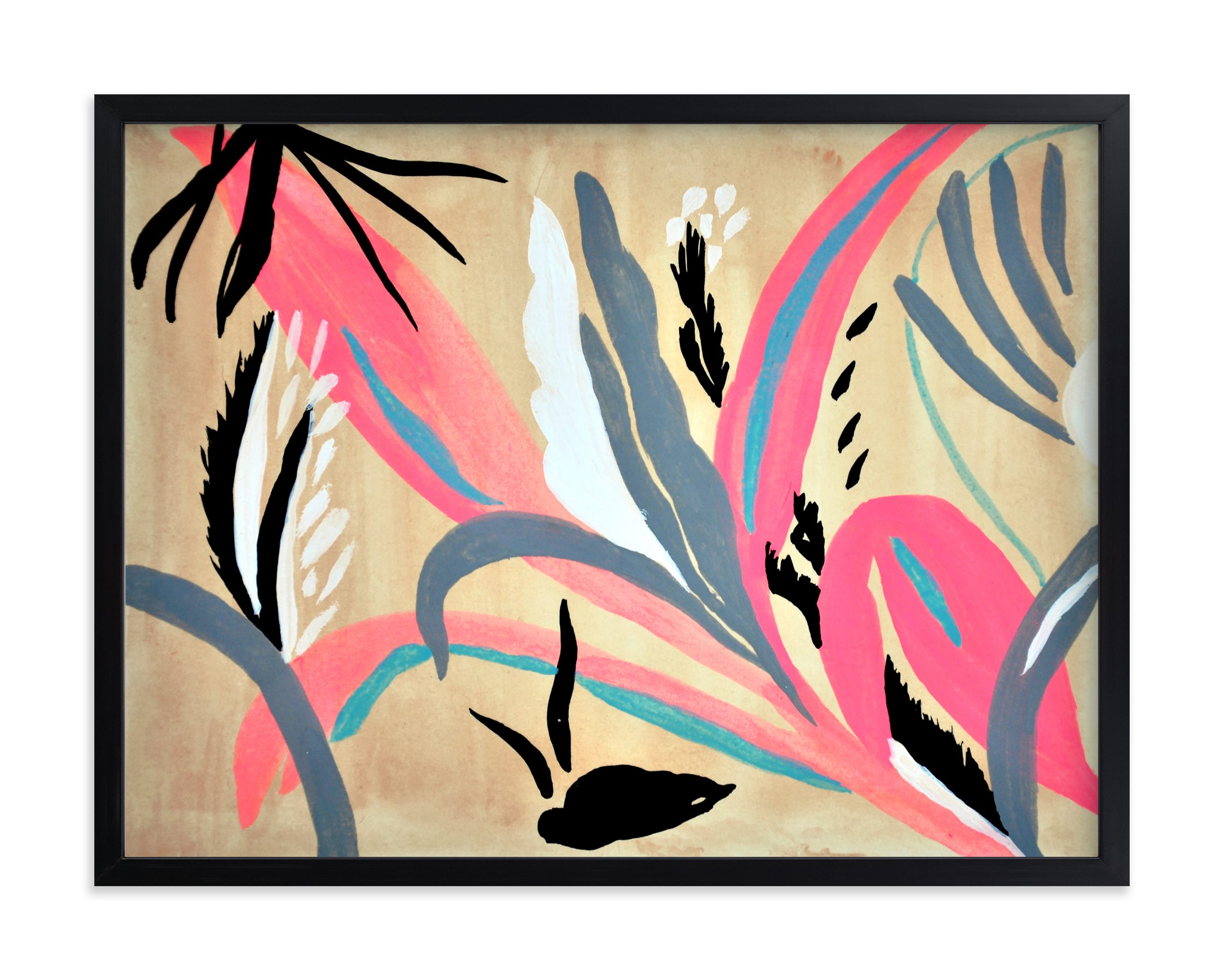 """""""Pink foliage"""" - Limited Edition Art Print by FERNANDA MARTINEZ in beautiful frame options and a variety of sizes."""