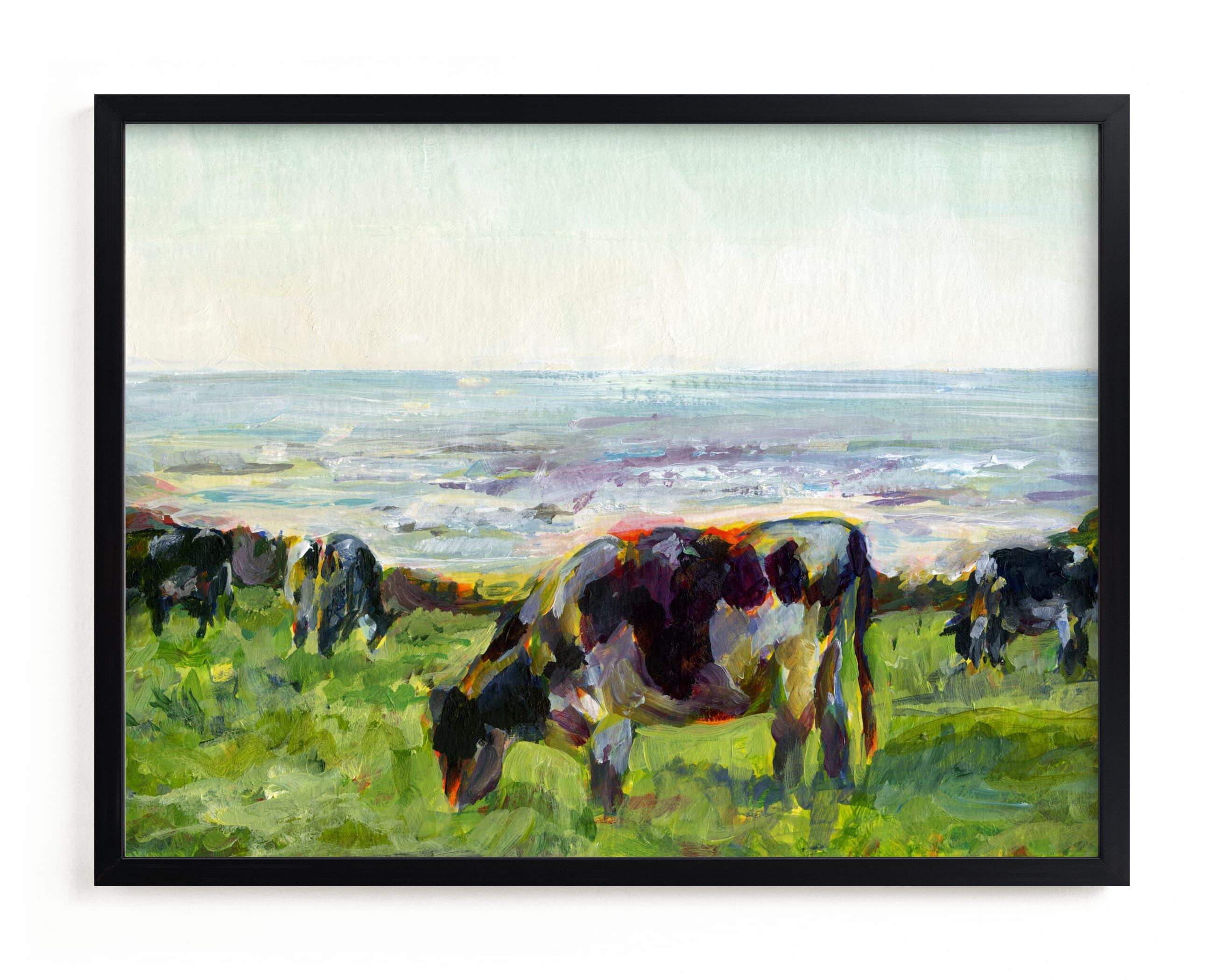 """""""Marin Cows"""" - Limited Edition Art Print by Alex Elko Design in beautiful frame options and a variety of sizes."""