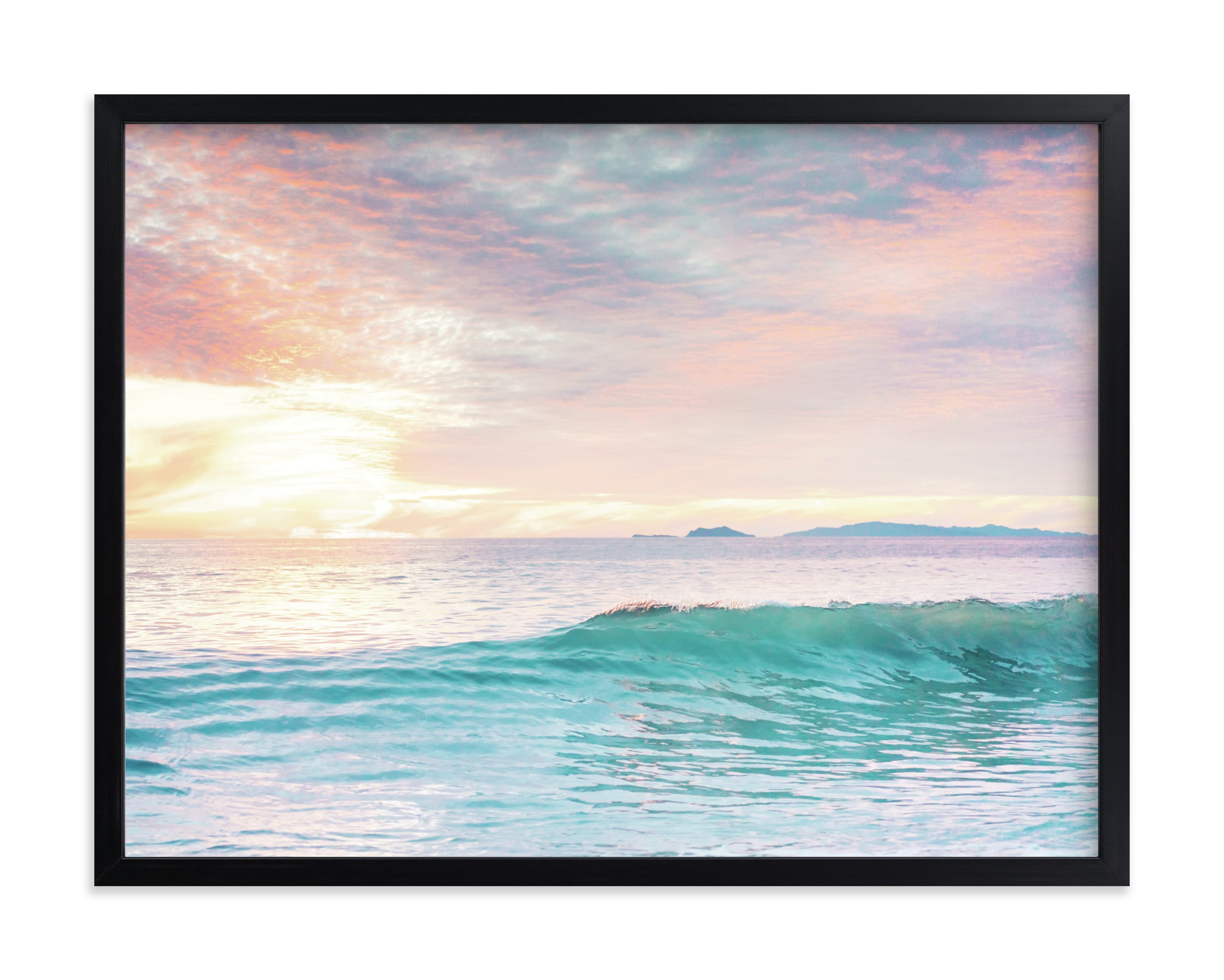 """""""SoCal Sorbet 4"""" - Grownup Open Edition Non-custom Art Print by Kamala Nahas in beautiful frame options and a variety of sizes."""