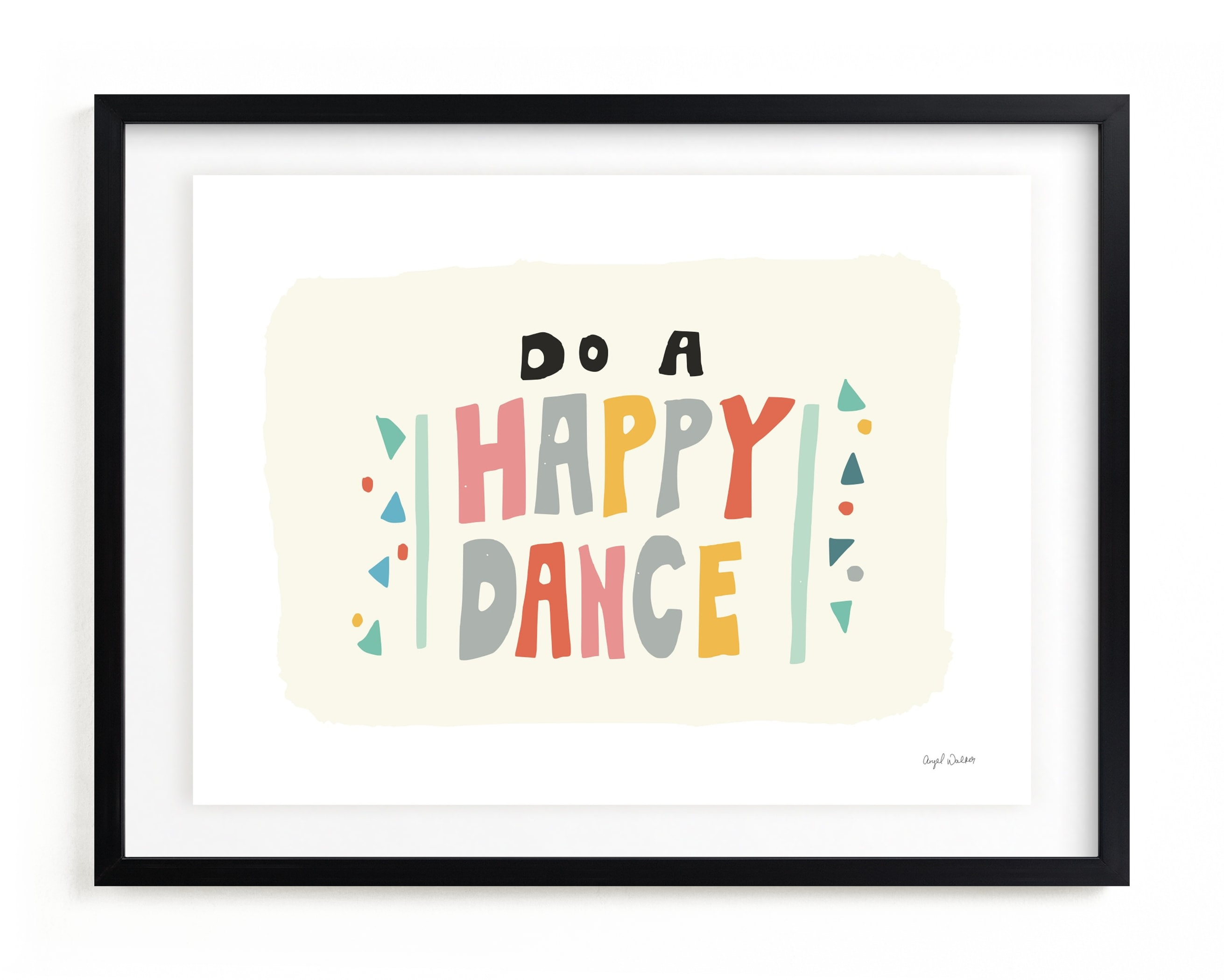happy dance Children's Art Print
