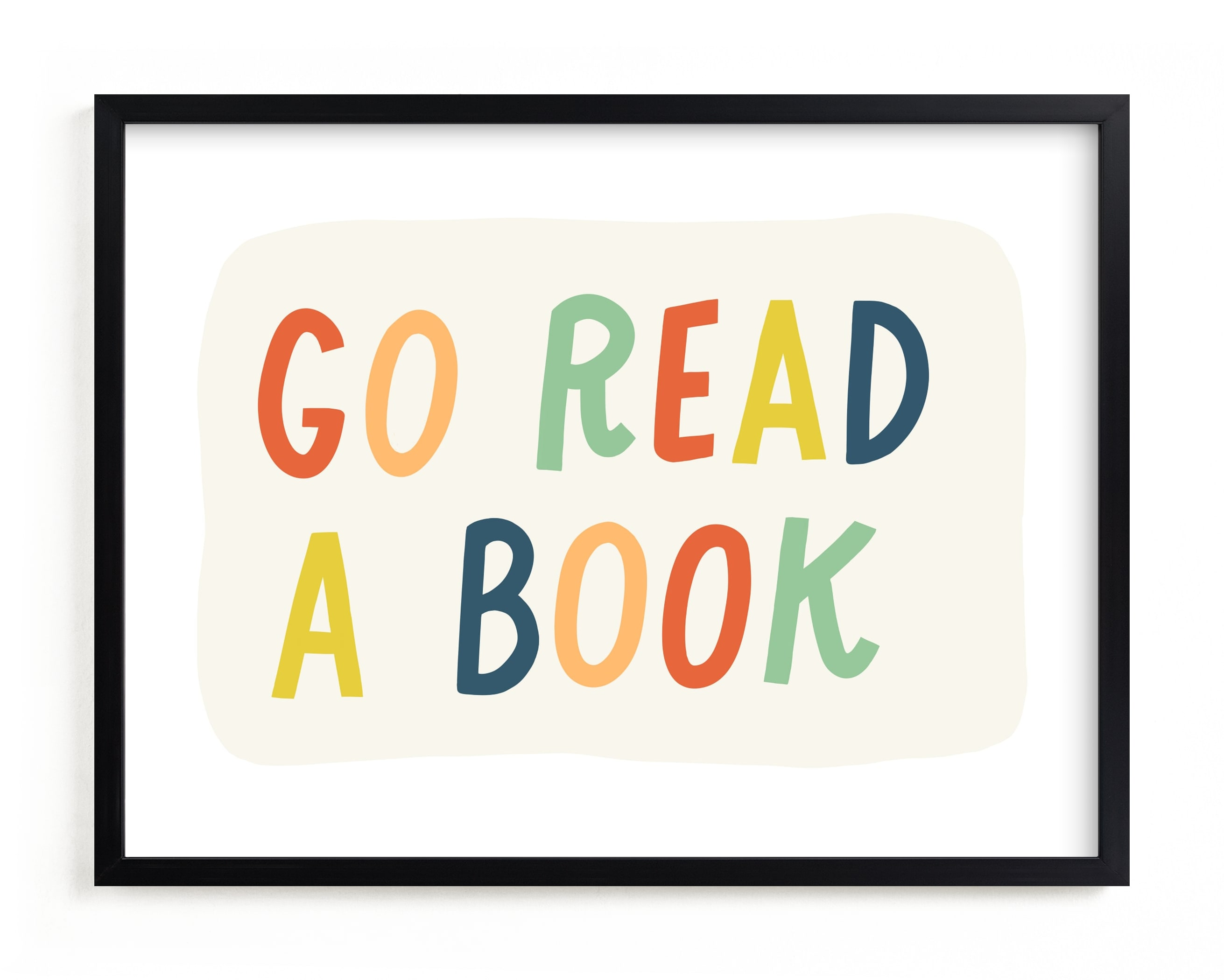 Go Read a Book Children's Art Print