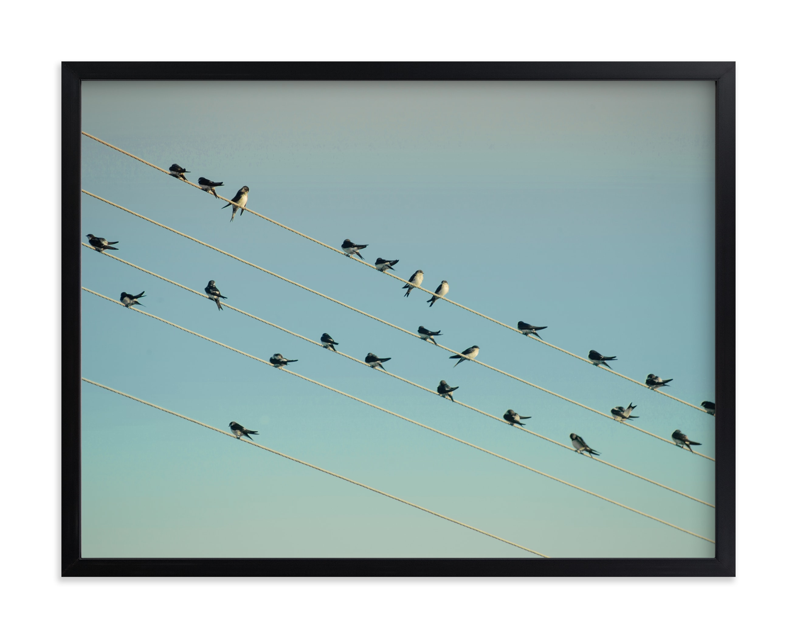 """""""Musical notes"""" - Art Print by Lying on the grass in beautiful frame options and a variety of sizes."""