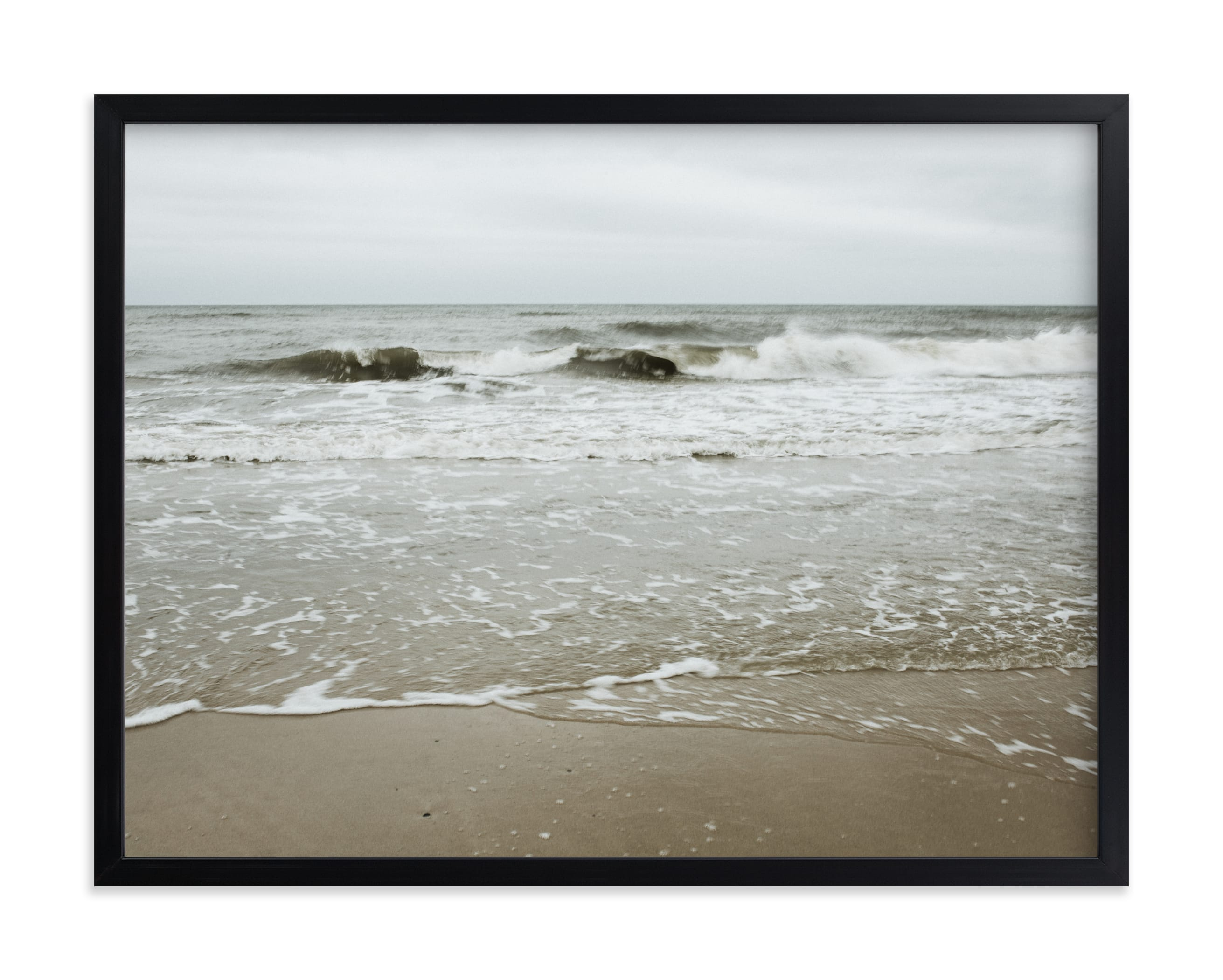"""""""By the sea - Waves"""" by Lying on the grass in beautiful frame options and a variety of sizes."""