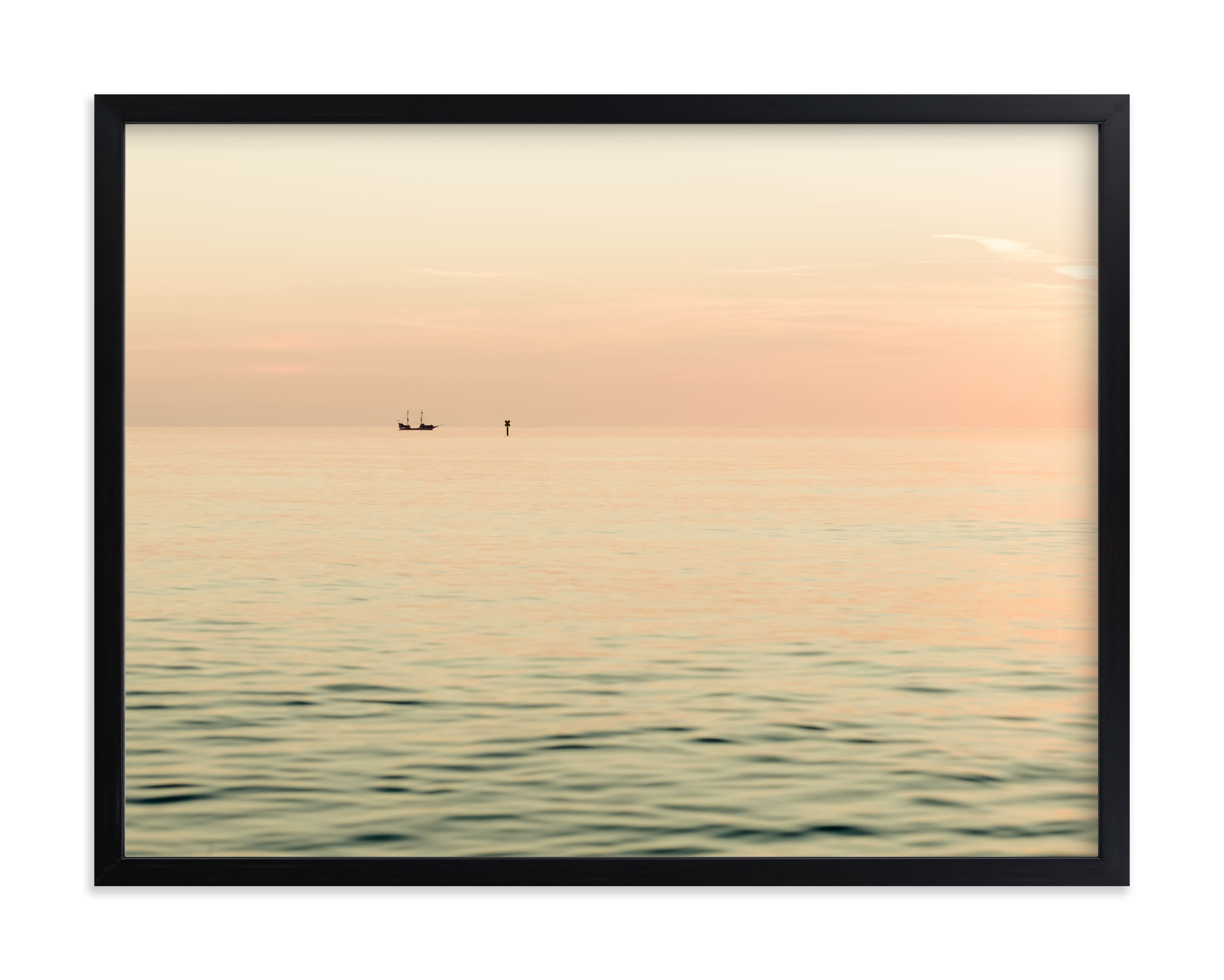 """""""Alone at sea II"""" by Lying on the grass in beautiful frame options and a variety of sizes."""