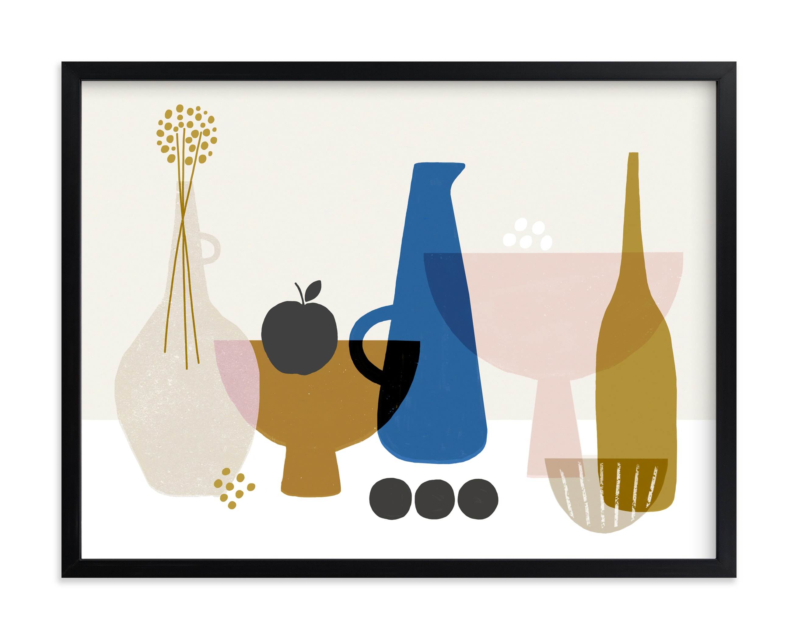 """""""Still Life with Black Apple"""" by Francesca Iannaccone in beautiful frame options and a variety of sizes."""