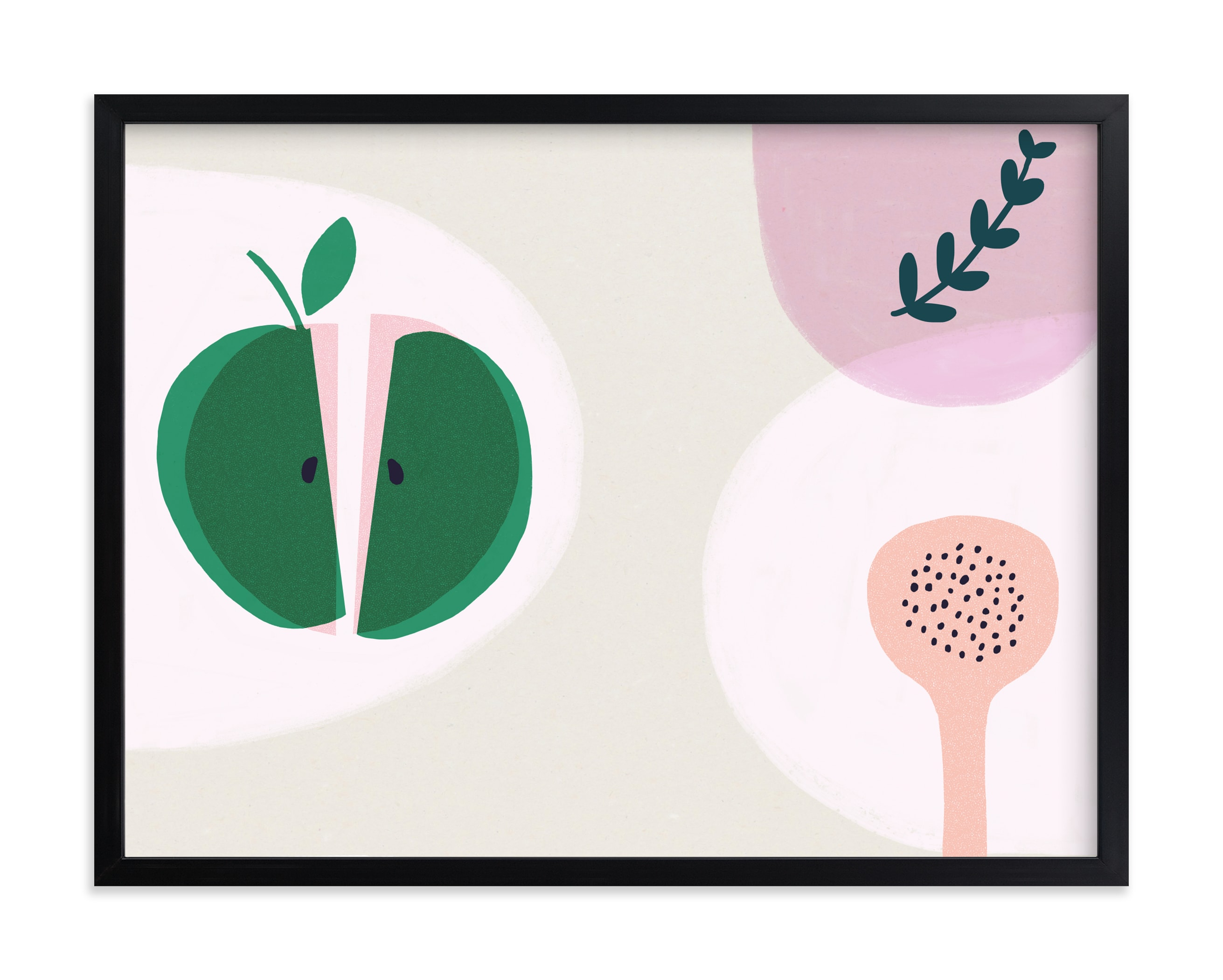 """Green Apple"" by Francesca Iannaccone in beautiful frame options and a variety of sizes."