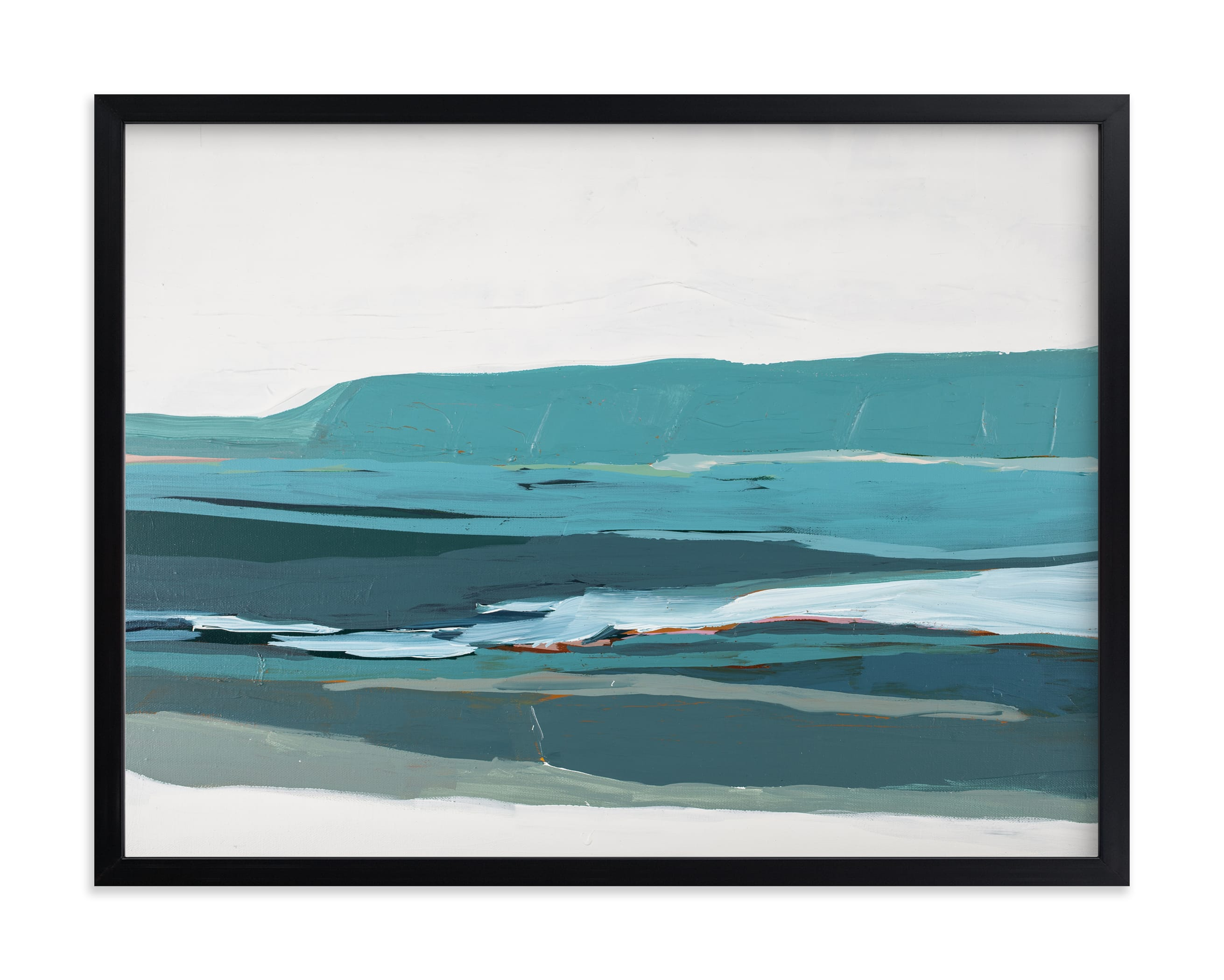 """""""Monterey Bay Abstract Landscape"""" by Caryn Owen in beautiful frame options and a variety of sizes."""