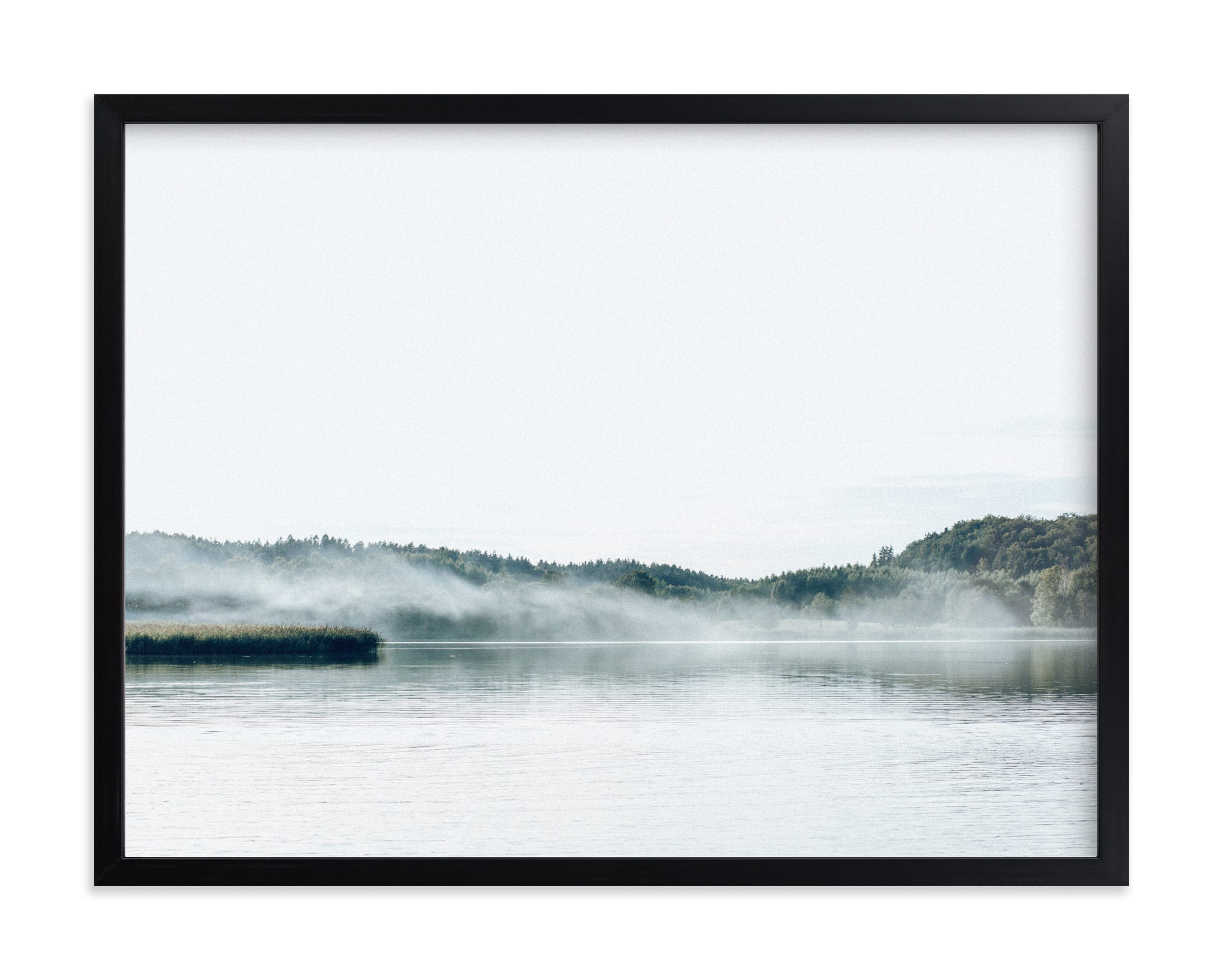 """""""WhiteLake"""" by Lying on the grass in beautiful frame options and a variety of sizes."""