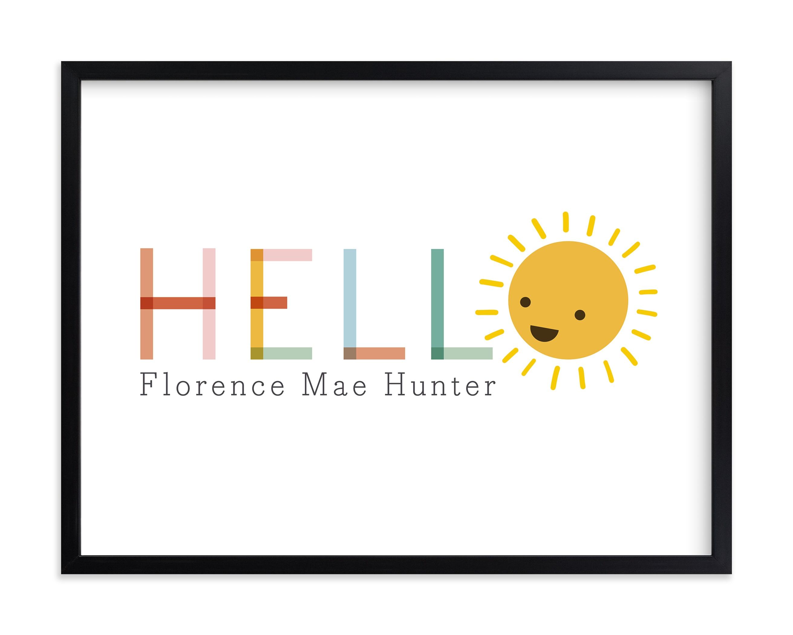 Sunny Nursery Custom Art Print