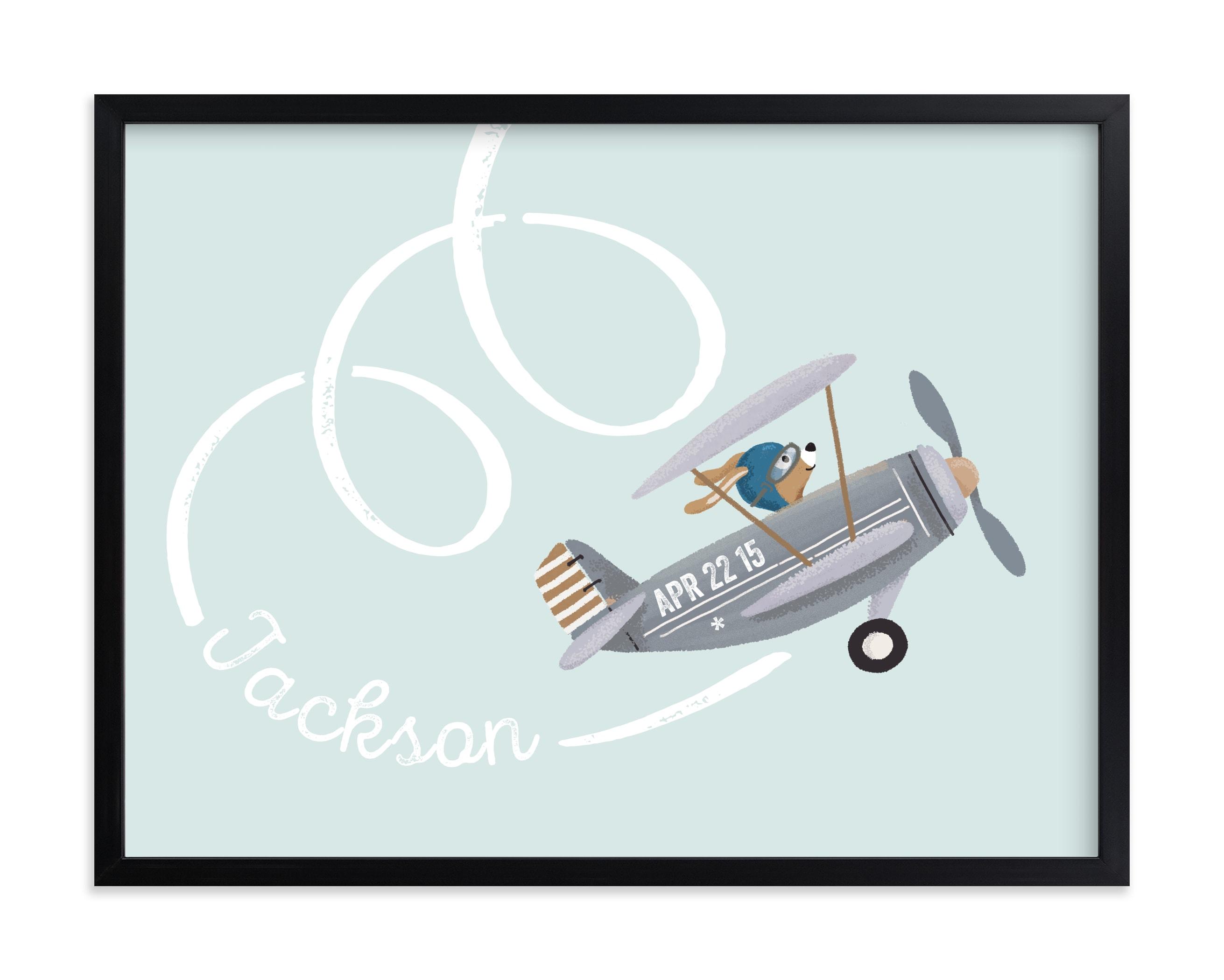 aerobatics Nursery Custom Art Print