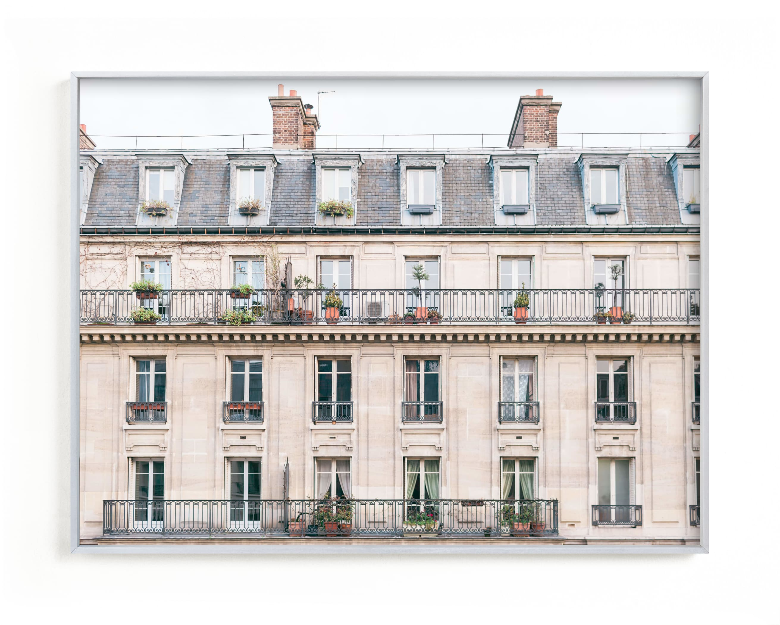 """Days in Paris"" - Limited Edition Art Print by Jessica C. Nugent in beautiful frame options and a variety of sizes."