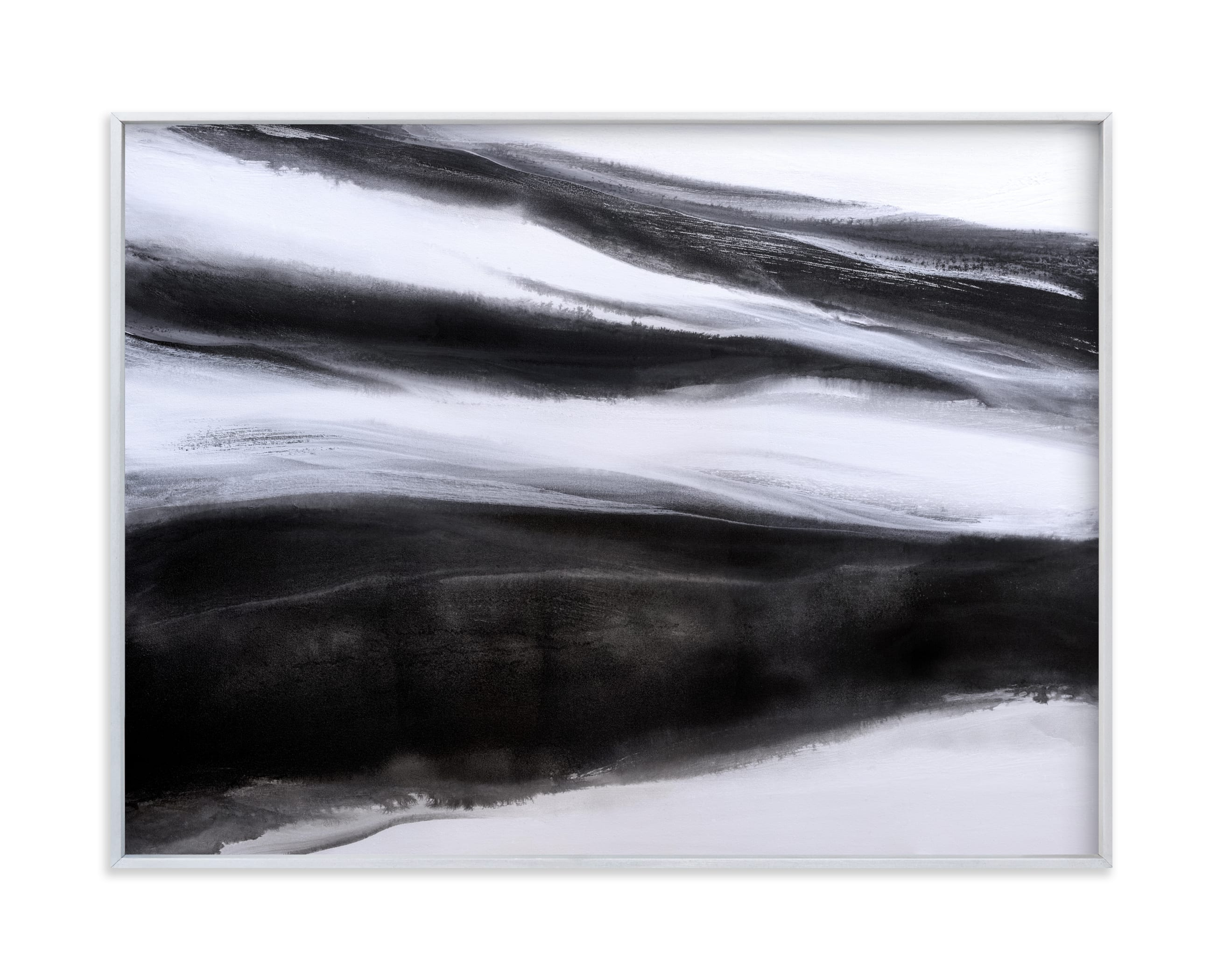 This is a white art by Teodora Guererra called Black Tie Silver.