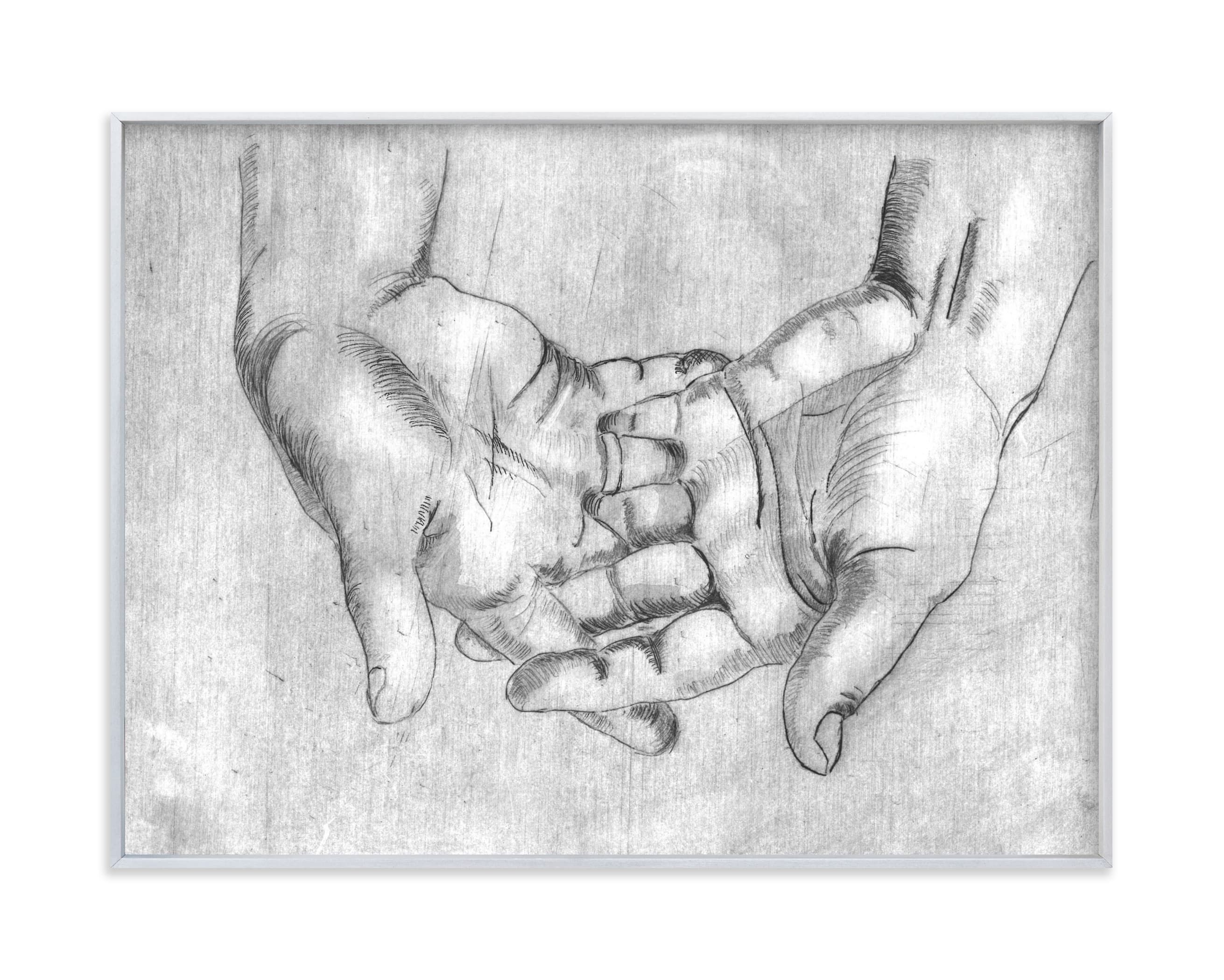 """""""Gesture - Open Hands"""" - Limited Edition Art Print by Alaine Ball in beautiful frame options and a variety of sizes."""