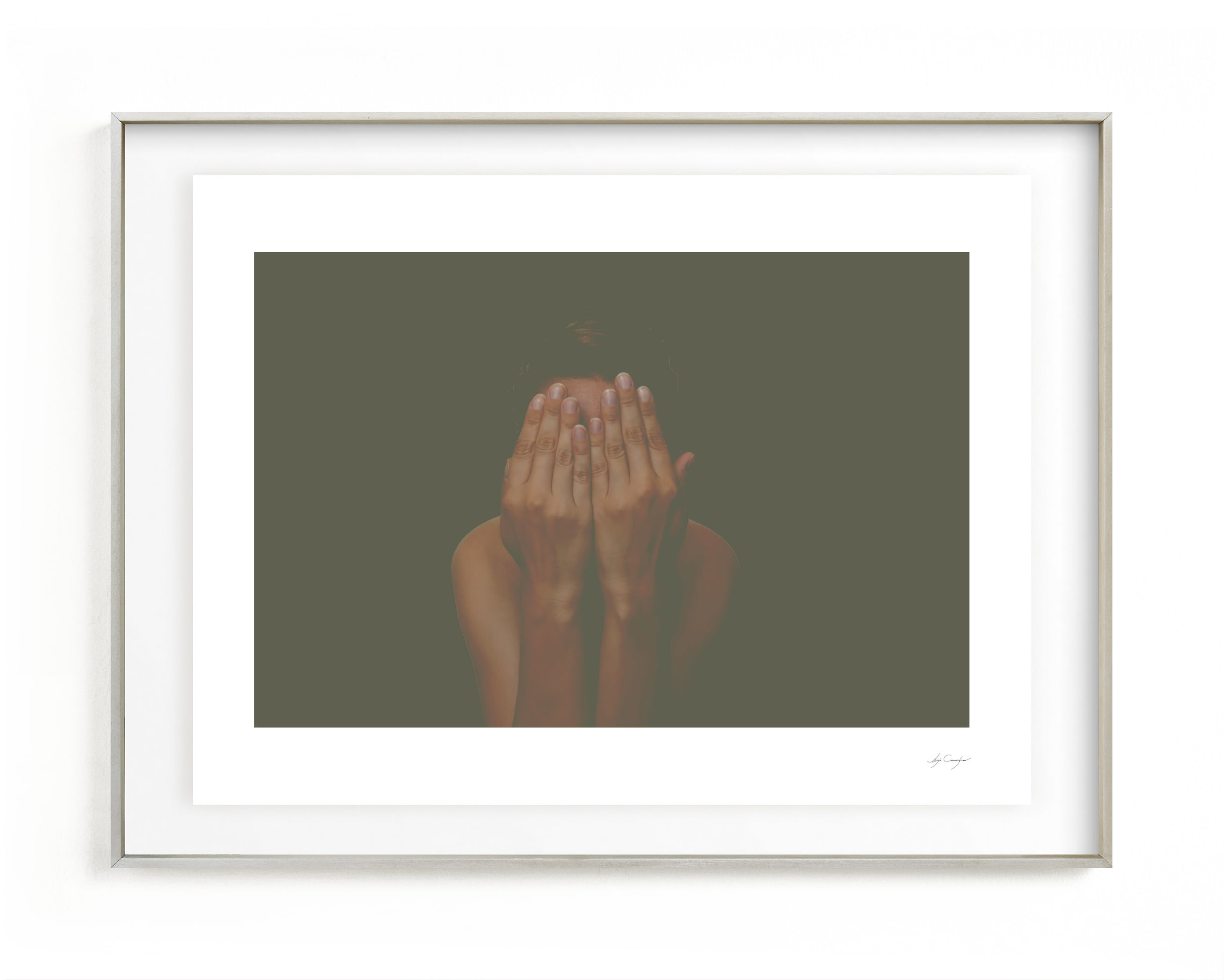 I don't like my picture taken Wall Art Print