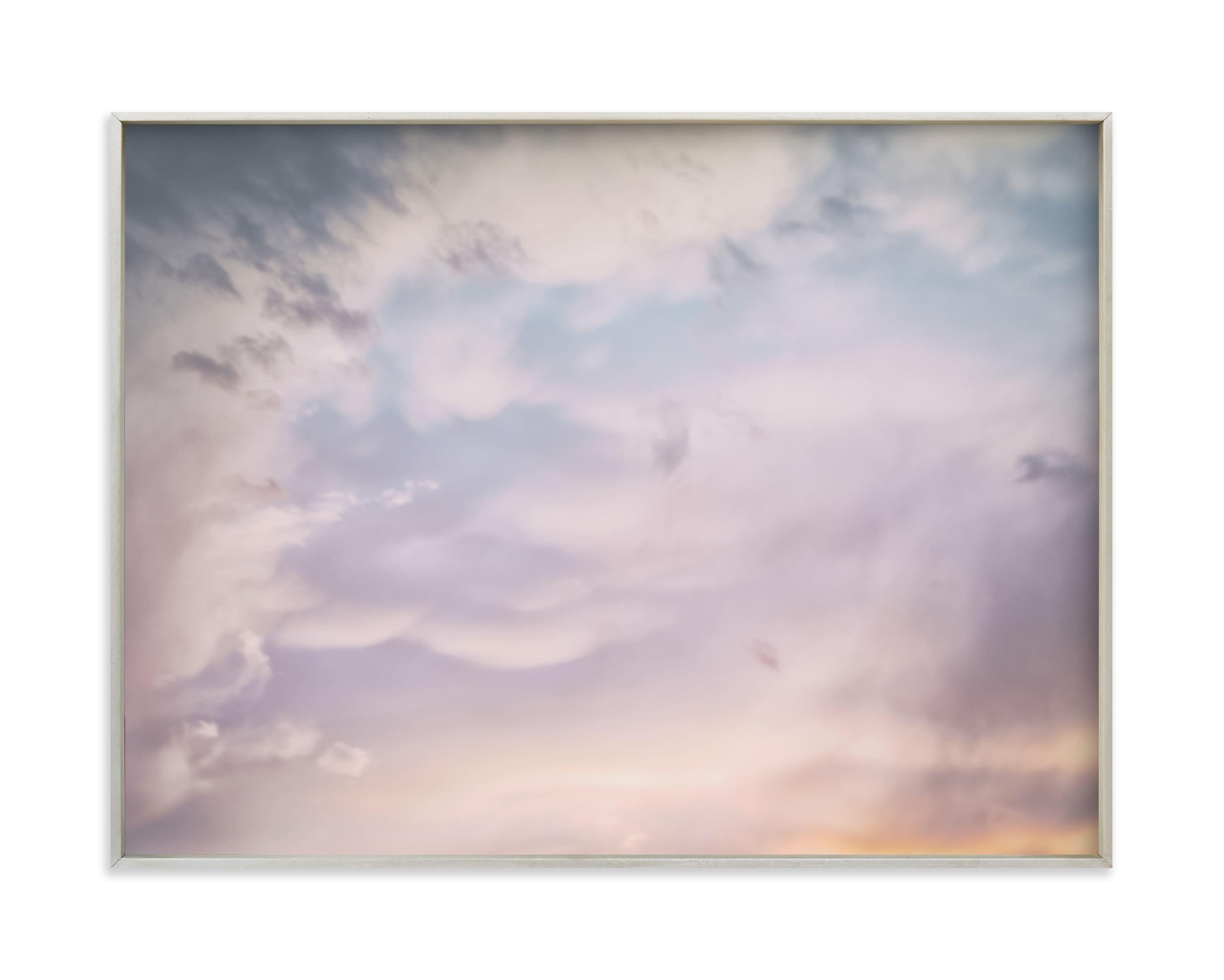 Dark Clouds at Sunset Wall Art Print