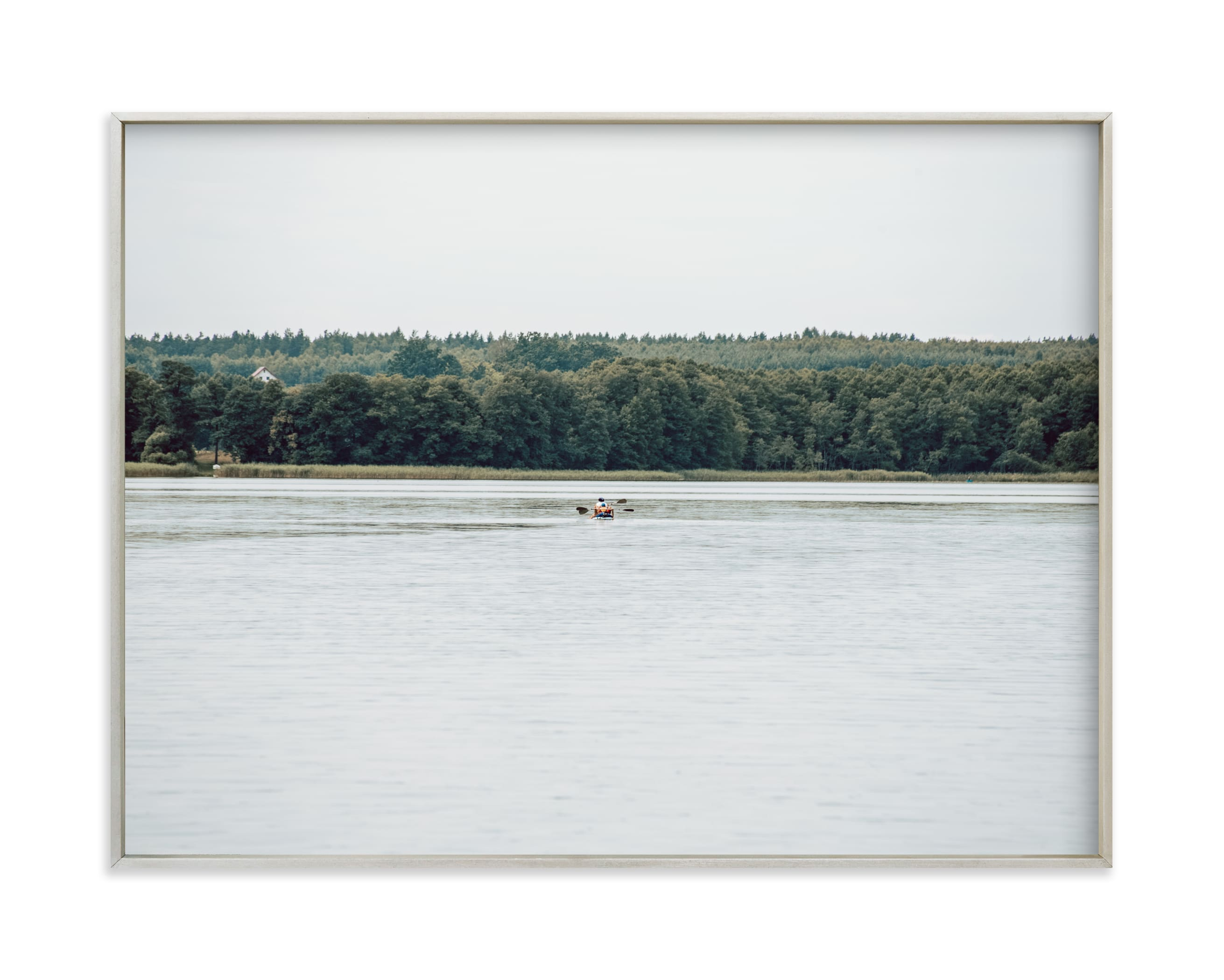 """Peaceful lake IV"" by Lying on the grass in beautiful frame options and a variety of sizes."