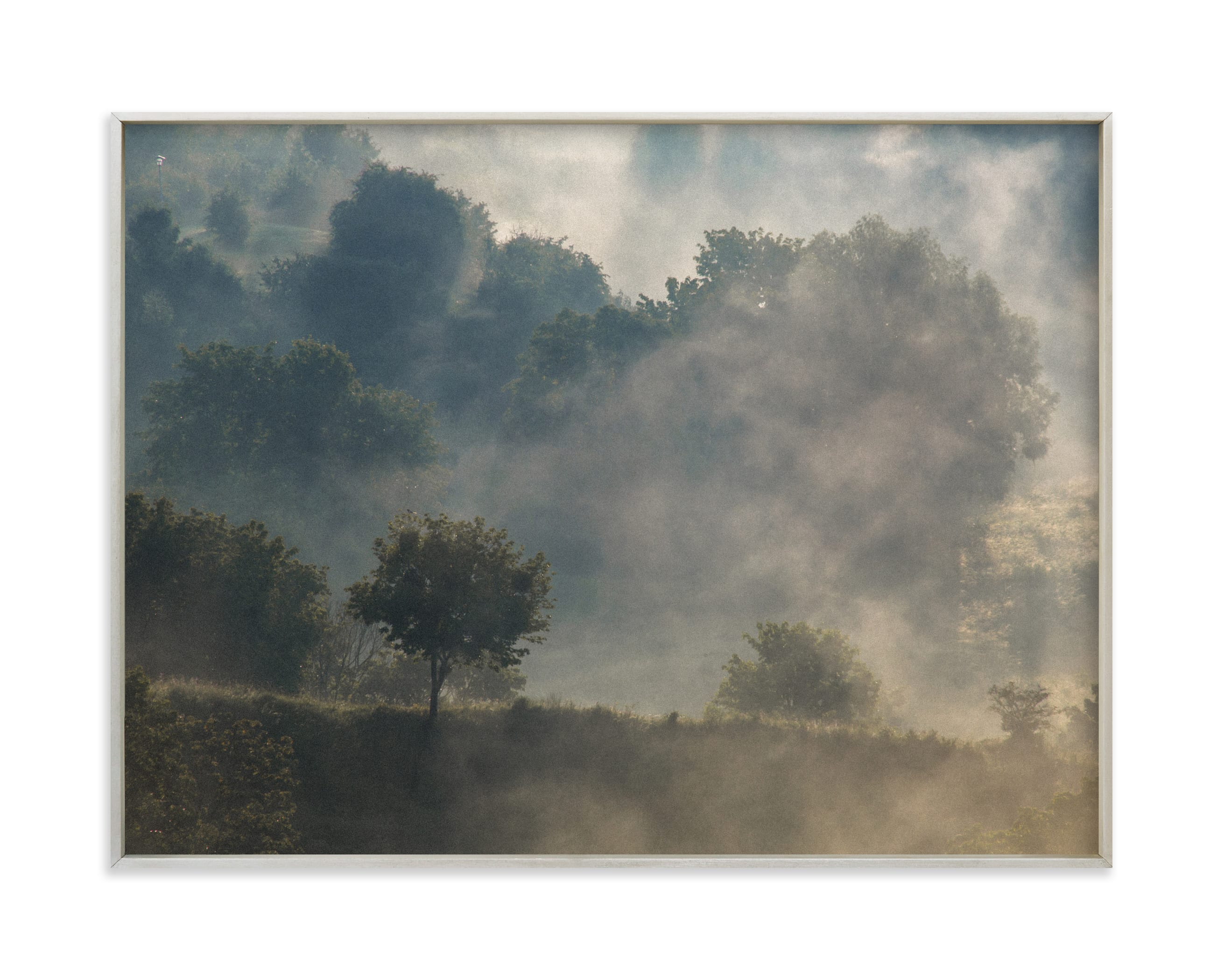 """""""Summer sunrise I"""" by Lying on the grass in beautiful frame options and a variety of sizes."""