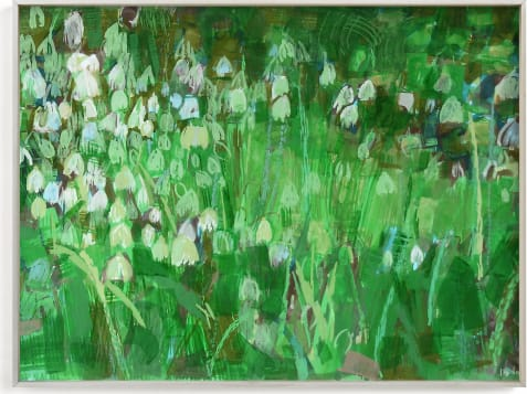 This is a ivory art by Liz Innvar called snowdrops.
